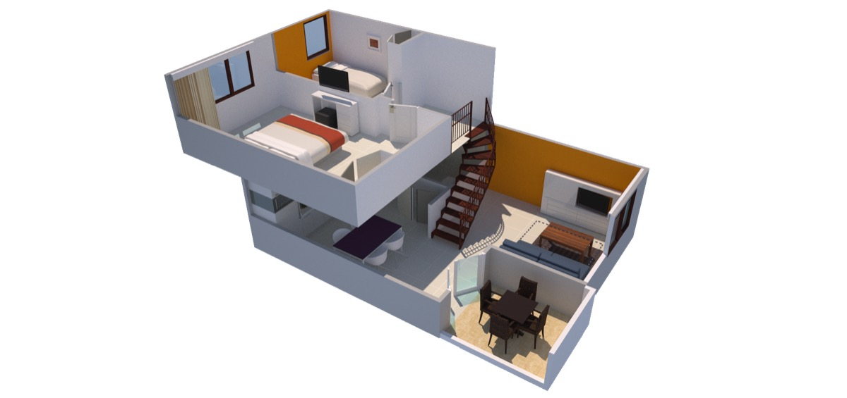 No Background Two bedroom apartment park side (floor 2)-2