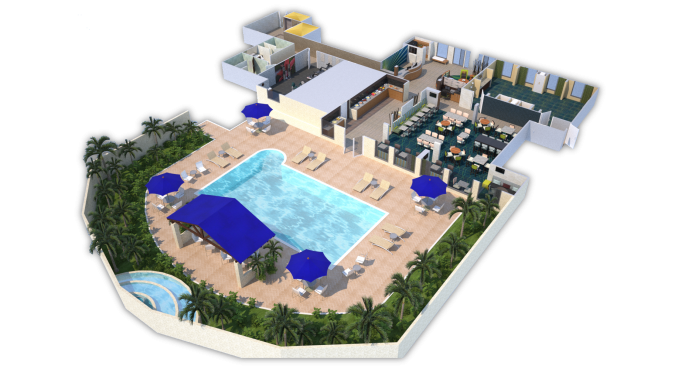 3D Rendering: SpringHill Suites, Boca Raton