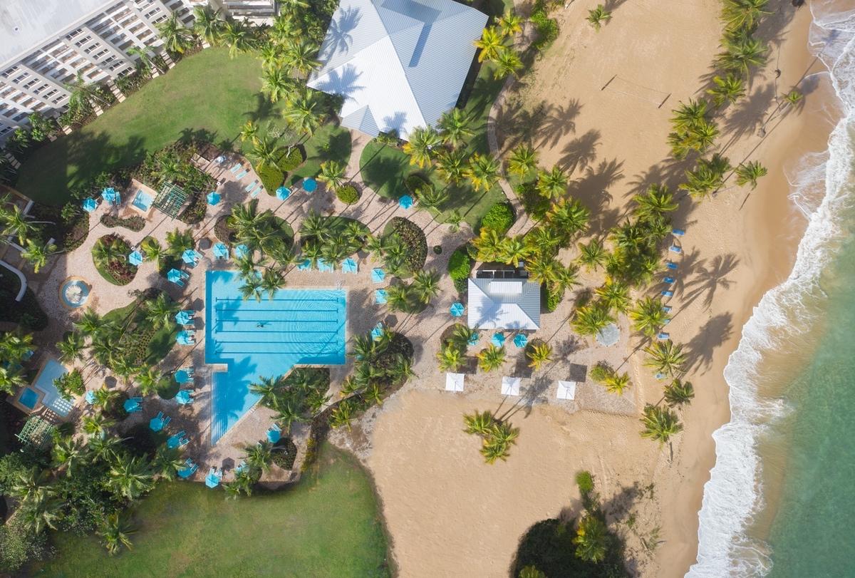 Hyatt-2021-Puerto Rico pool birds eye view