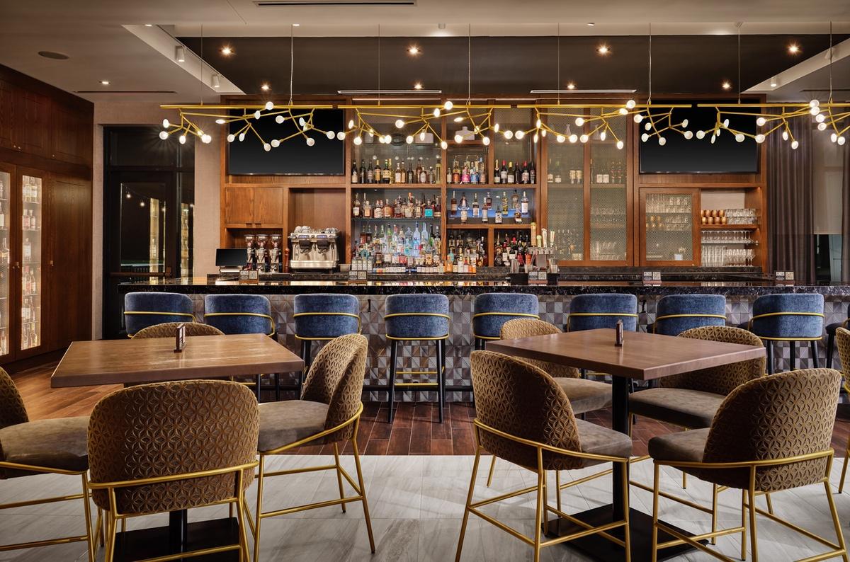 hyatt-Forester bar with seating