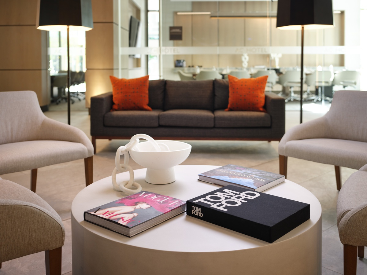 AC Hotel coffee table books detail